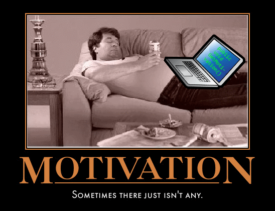 Programmierer auf Couch - GetMotivation()
