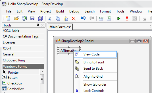 SharpDevelop IDE